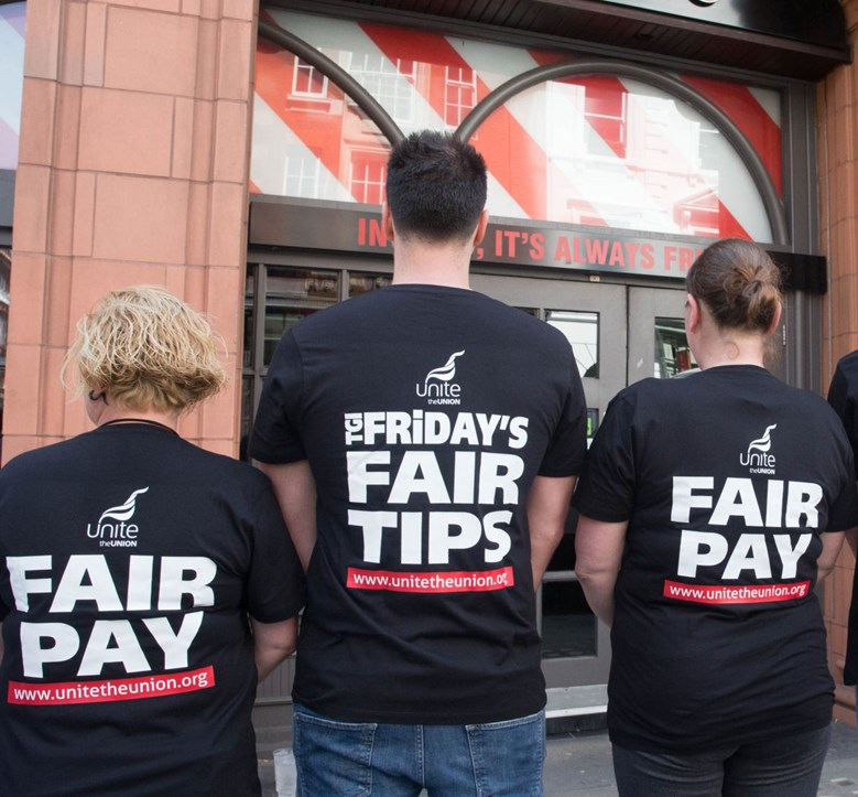 Demanding #FairTips and #FairPay at TGI Fridays