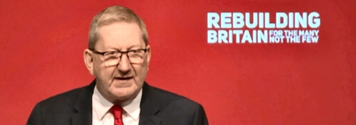Len McCluskey at Labour conference