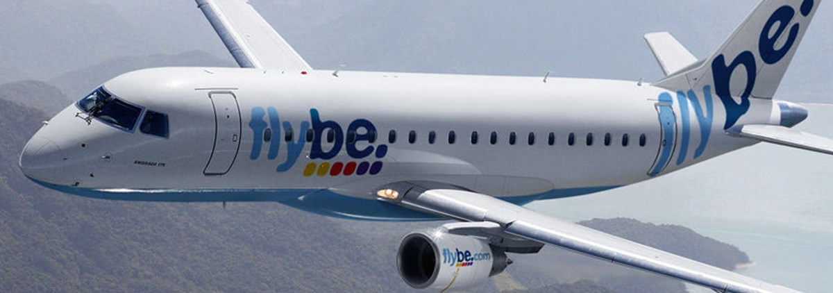 Flybe plane in flight