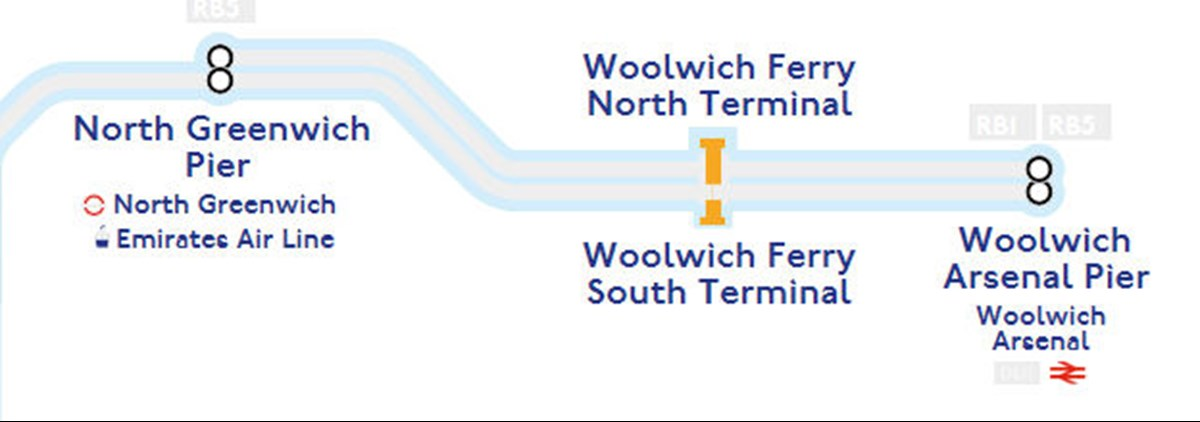 Woolwich Tube map stations