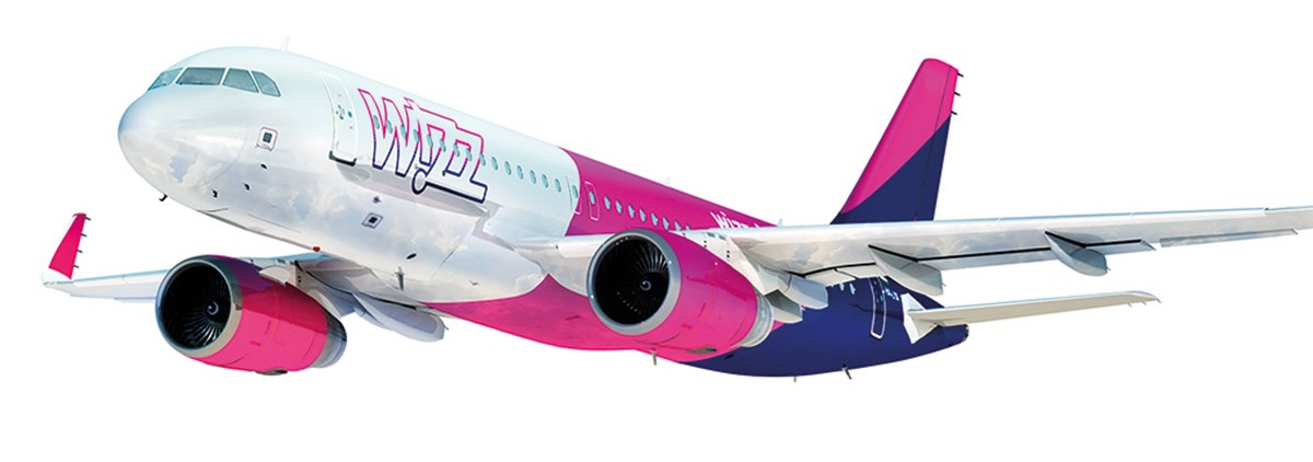 Wizz Air plane in the air