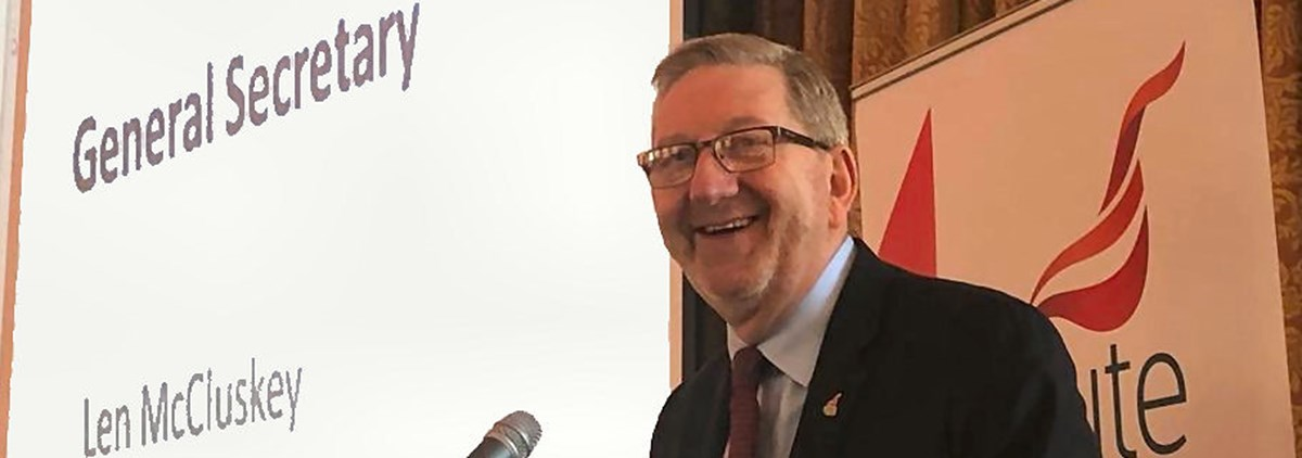 Len McCluskey at Ireland Policy Conference 2019