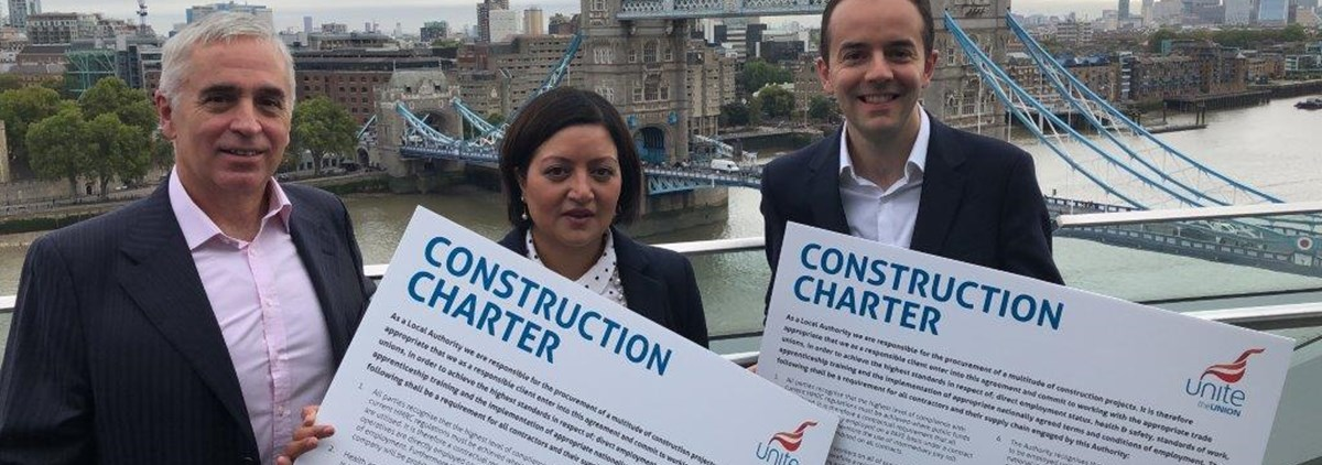 Construction charter signing