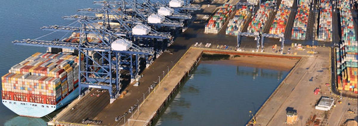 Felixstowe port - Courtesy of the Port of Felixstowex